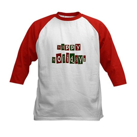 Happy Holidays Kids Baseball Jersey