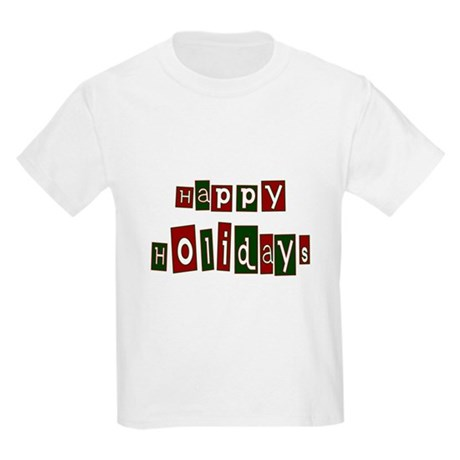 Happy Holidays Kids Light T-Shirt
