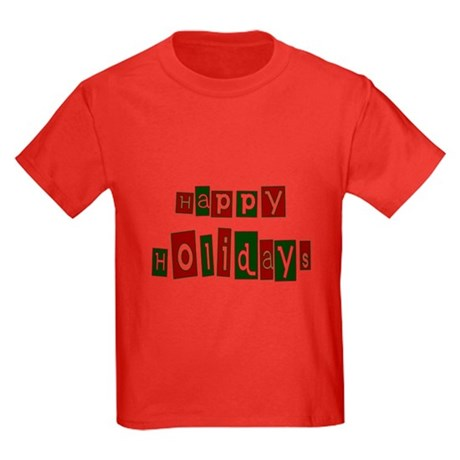 Happy Holidays Kids Dark T-Shirt