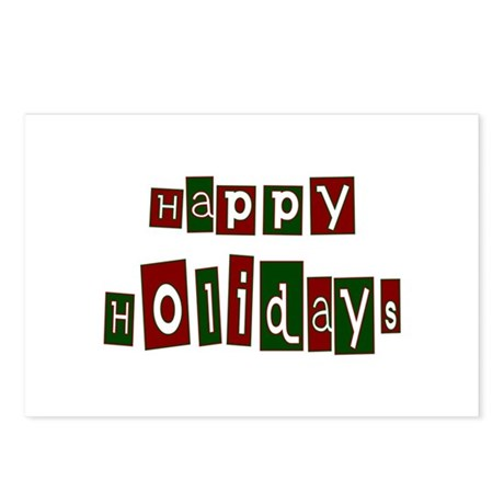 Happy Holidays Postcards (Package of 8)