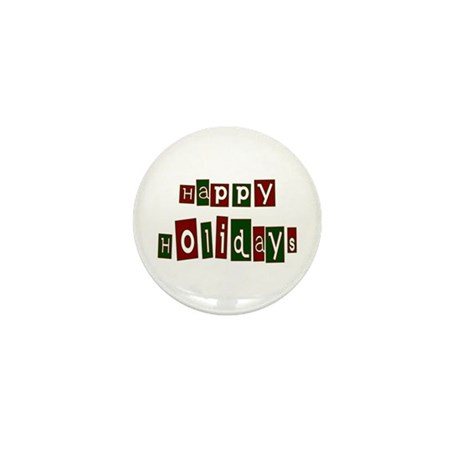 Happy Holidays Mini Button