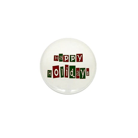 Happy Holidays Mini Button (10 pack)