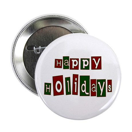 "Happy Holidays 2.25"" Button (10 pack)"