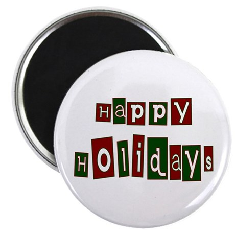 "Happy Holidays 2.25"" Magnet (10 pack)"