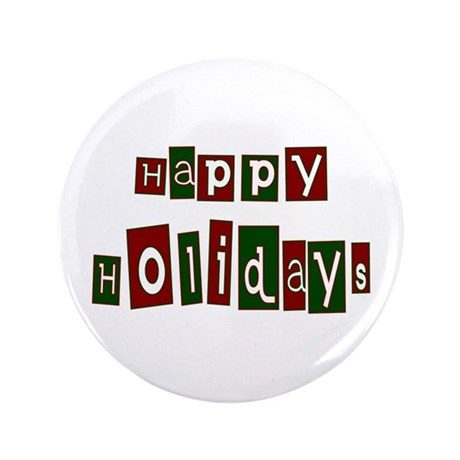 "Happy Holidays 3.5"" Button (100 pack)"