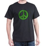Green Peace Sign T-Shirt (dark)