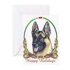 German Shepherd Holiday Greeting Cards (Package of