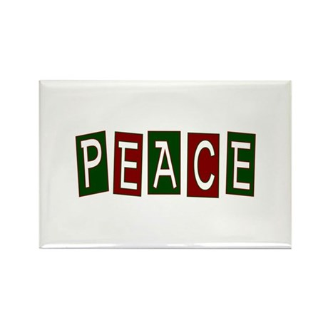 Peace Rectangle Magnet (10 pack)