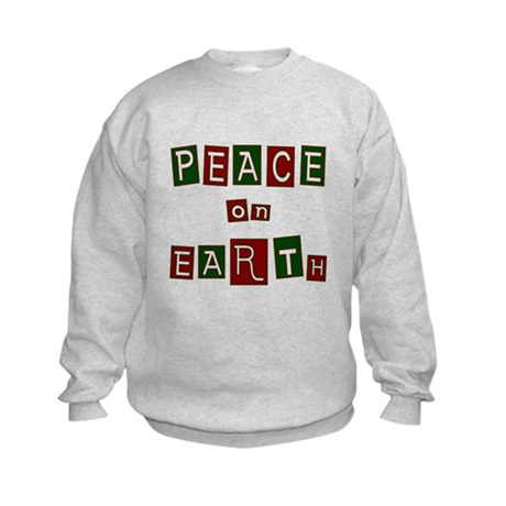 Peace on Earth Kids Sweatshirt