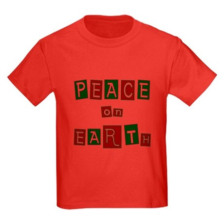 Peace on Earth Kids Dark T-Shirt