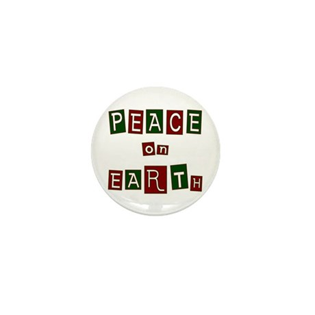 Peace on Earth Mini Button