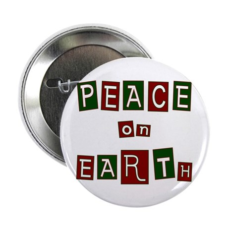 "Peace on Earth 2.25"" Button (10 pack)"