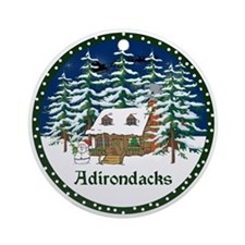 An Adirondack Christmas Ornament (Round)
