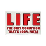 Fatal Life Rectangle Magnet (100 pack)