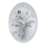 Silvery Fairy Oval Ornament