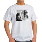 Lizzie Borden Art Ash Grey T-Shirt