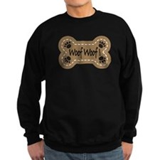 Dog Bone Paw Print Woof Sweatshirt