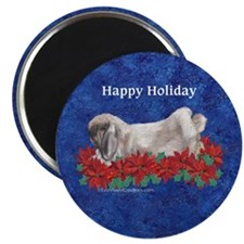 Fuzzy Lop Holiday Magnet