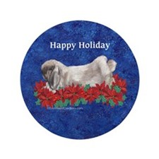 "Fuzzy Lop Holiday 3.5"" Button"
