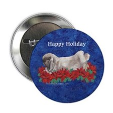 "Fuzzy Lop Holiday 2.25"" Button (10 pack)"