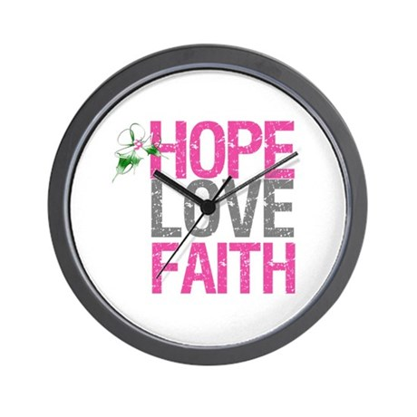 HopeLoveFaith X-Mas Wall Clock