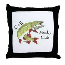 Musky Logo Throw Pillow