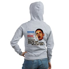 anti-Obama Fool the People Women's Zip Hoodie