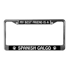My Best Friend is a Spanish Galgo License Frame
