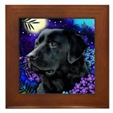 LABRADOR RETRIEVER DOG MOON Framed Tile