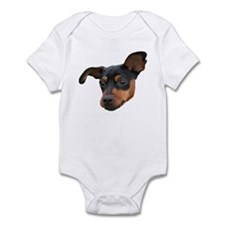 Funny Miniature pinscher Infant Bodysuit