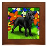 LABRADOR RETRIEVER DOG GARDEN Framed Tile