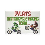 Dylan's Motorcycle Racing Rectangle Magnet
