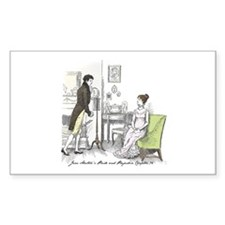 Pride & Prejudice Ch 34 Rectangle Decal