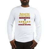 Husband &amp; Cocker Spaniel Missing Long Sleeve T-Shi