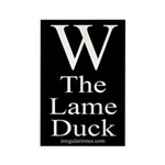 W: The Lame Duck Rectangle Magnet