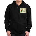 Irish Girl Blessing Zip Hoodie (dark)