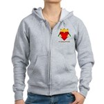 Irish Claddagh Women's Zip Hoodie