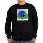 Black & Tan Dachshund Agility Sweatshirt (dark