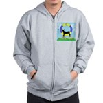 Agility Doberman Pinscher Zip Hoodie