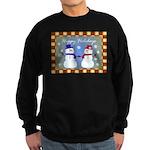 Snowman Couple Greeting Sweatshirt (dark)