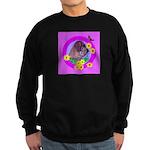 Mini Wirehaired Dachshund Sweatshirt (dark)