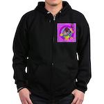 Mini Wirehaired Dachshund Zip Hoodie (dark)
