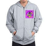 Mini Wirehaired Dachshund Zip Hoodie