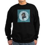 Longhaired Dachshund Sweatshirt (dark)