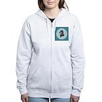 Longhaired Dachshund Women's Zip Hoodie