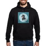 Longhaired Dachshund Hoodie (dark)