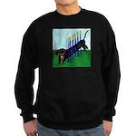 An Agility Dachshund? Sweatshirt (dark)