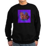 Long Haired Dachshunds Sweatshirt (dark)