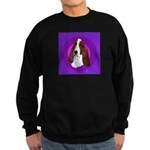 Adorable Basset Hound Sweatshirt (dark)