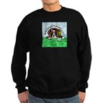 Bassett Hound Party guy!! Sweatshirt (dark)